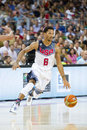 Derrick rose of usa team at fiba world cup basketball match between and mexico final score on september in barcelona spain Stock Images