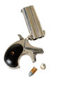 Derringer barrel caliber with cartridges Stock Image