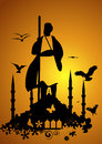 Dervish silhouette and history of istanbul Royalty Free Stock Photography