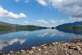 Derwent The Lakes Cumbria England uk south of Keswick blue sky beautiful calm sunny summer day Royalty Free Stock Photo