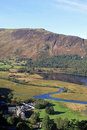 Derwentwater, Black Crag and Maiden Moor, Cumbria Royalty Free Stock Photo