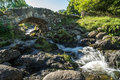 Derwentwater lake district england august view of ashnes ashness bridge near in the on Royalty Free Stock Images