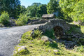 Derwentwater lake district england august view of ashnes ashness bridge near in the on Stock Photography