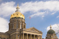 Des Moines Iowa Capital Building Government Dome Architecture