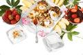 Desayuno de la dieta Foto de archivo libre de regalías