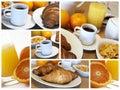 Desayuno italiano - collage Imágenes de archivo libres de regalías