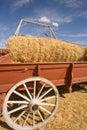 Descarregando o vagão do trigo. Fotos de Stock