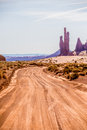 Descending into Monument Valley at Utah  Arizona border Royalty Free Stock Photo