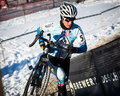 Deschutes brewery cup cyclocross nicole duke at the in bend oregon Royalty Free Stock Image