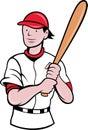 Desenhos animados da batedura do jogador de beisebol Fotografia de Stock