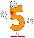 Desenhos animados engraçados Numbers-5 Foto de Stock Royalty Free