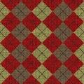 Deseniowy knitwork tartan Zdjęcie Royalty Free
