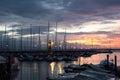Desenzano del Garda Marina with the Old Lighthouse Royalty Free Stock Photo