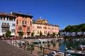 Desenzano harbour lake garda del italy Royalty Free Stock Photos