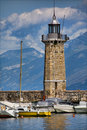 Desenzano lighthouse Royalty Free Stock Photo