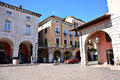 Desenzano street editorial italy city with people and buildings Royalty Free Stock Image