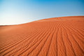 Desert and blue sky sand dunes Royalty Free Stock Photos