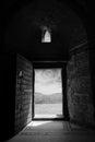 Desert Castle Open Door Royalty Free Stock Photo