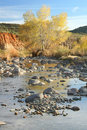 Desert Creek in Autumn Stock Photography