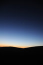 Desert in dawn located inner mongolia ejinaqi china Royalty Free Stock Photos