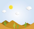 Desert a desert landscape illustration Royalty Free Stock Photo