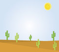 Desert a desert landscape illustration Stock Image