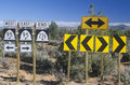 Desert highway signs Royalty Free Stock Photo