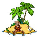 Desert Island Robinson Crusoe Royalty Free Stock Photo