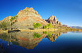 Desert Lake Reflection Royalty Free Stock Photo