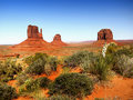 Desert Landscape in Arizona, Monument Valley Royalty Free Stock Photo