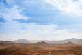 Desert landscape background global warming concept Royalty Free Stock Photo