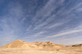 Desert landscape bare with blue sky Stock Images