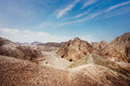 Desert landscape dramatic of the negev in israel Royalty Free Stock Image