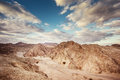 Desert landscape dramatic of the negev in israel Stock Photo