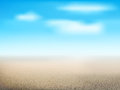 Desert landscape with dry land Royalty Free Stock Photo