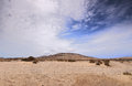 Desert landscape fuerteventura canary islands spain Royalty Free Stock Image