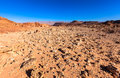 Desert landscape at timna national park in israel Royalty Free Stock Photos