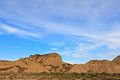 Desert landscape under the cloudy sky bardenas reales navarra spain Royalty Free Stock Photos