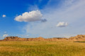 Desert landscape under the cloudy sky bardenas reales navarra spain Stock Photography