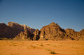 Desert landscape wadi rum with blue sky jordan Royalty Free Stock Images