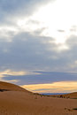 In the desert morocco sand and dune Royalty Free Stock Photo