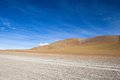 Desert and mountain on Altiplano,Bolivia Stock Photos