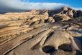 Desert mountains bektau ata in kazakhstan clouds Royalty Free Stock Images