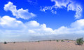 Desert outside the city in the panoramic view Royalty Free Stock Images