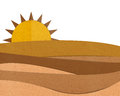 Desert paper cut and paste. Royalty Free Stock Photo