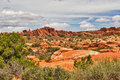 Desert Red Rocks in Moab Royalty Free Stock Photo
