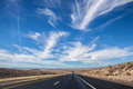 Desert road in arizona usa Royalty Free Stock Photography