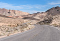 Desert road lake mead nevada northshore national recreation area Stock Images