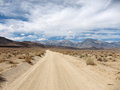 Desert road landscape endless and empty Royalty Free Stock Photos