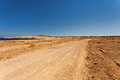 Desert road. Royalty Free Stock Photo